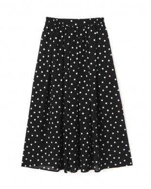 ブラック シャドーボーダードットプリントスカート Jill by Jill リプロを見る