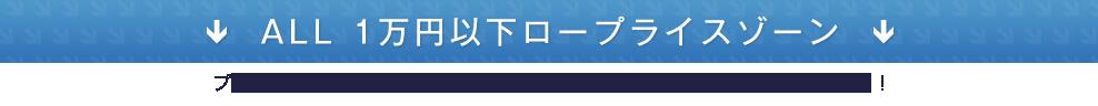 ALL 1万円以下ロープライスゾーン