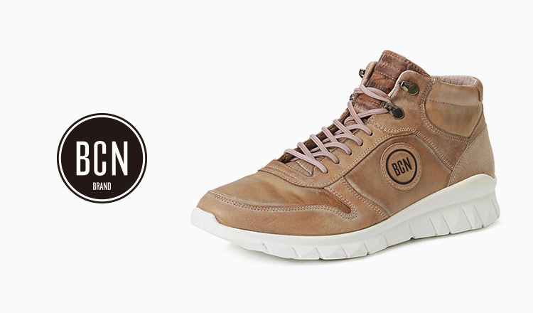 BCN Brand : Leather Sneakers