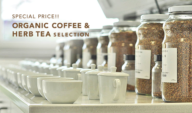 SPECIAL PRICE!! ORGANIC COFFEE & HERB TEA SELECTION