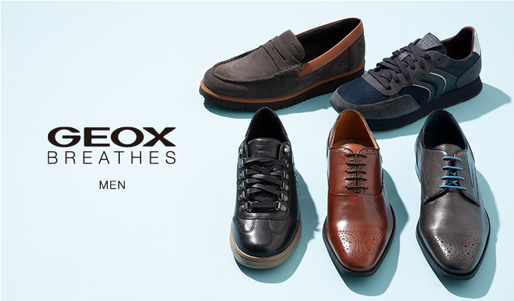 GEOX MEN -通気性抜群 究極の呼吸する靴-