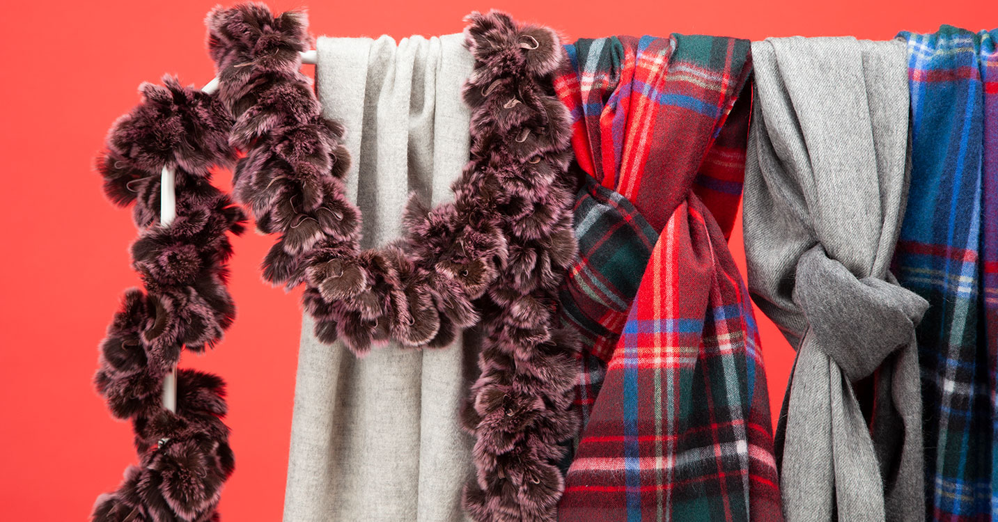 MG SABLE -CASHMERE STOLES & FUR MUFFLER COLLECTION-