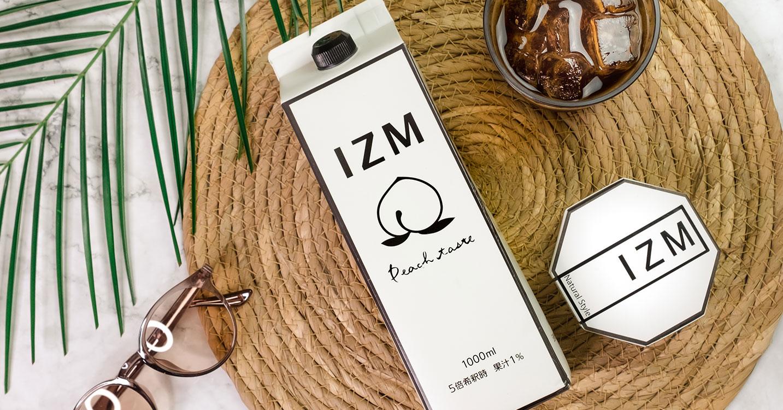 IZM PEACH TASTE/BOTANICAL SOAP-桃味で美味しい酵素ドリンクと無添加石鹸-